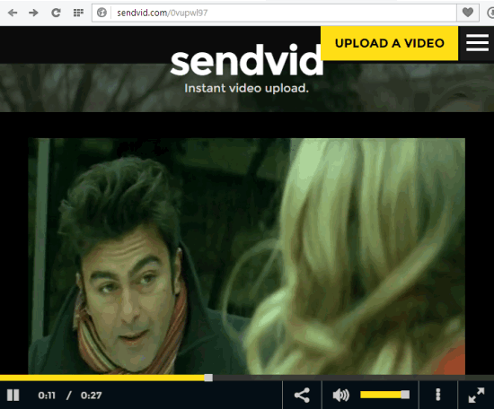 upload and share videos online with Sendvid