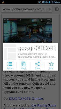 url shortener apps Android 1