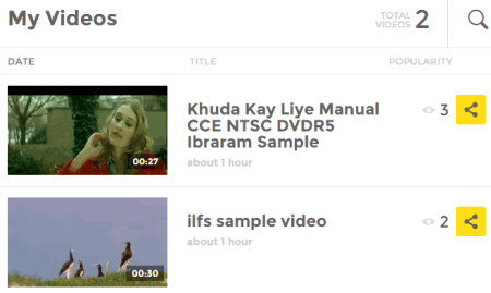 videos are stored in My Videos section