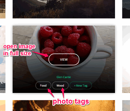 view image in full screen mode