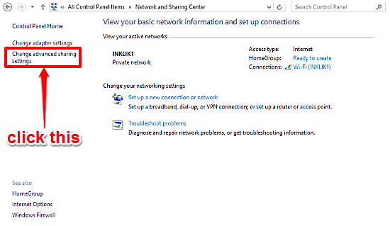 windows 10 access advanced sharing settings