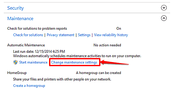 windows 10 access maintenance settings