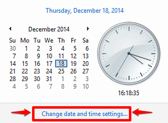 windows 10 change date and time settings