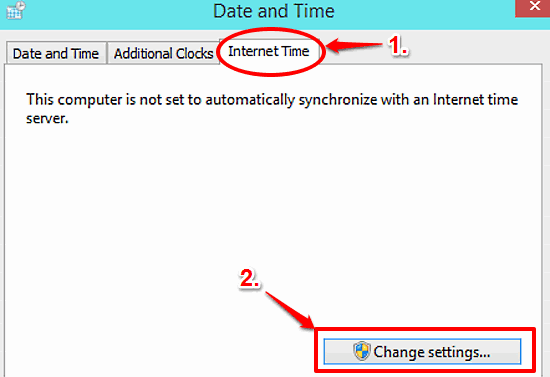 windows 10 change internet time synchronization settings