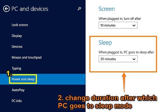 windows 10 change sleep duration
