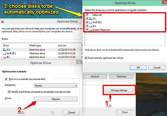 windows 10 choose disks to be optimized