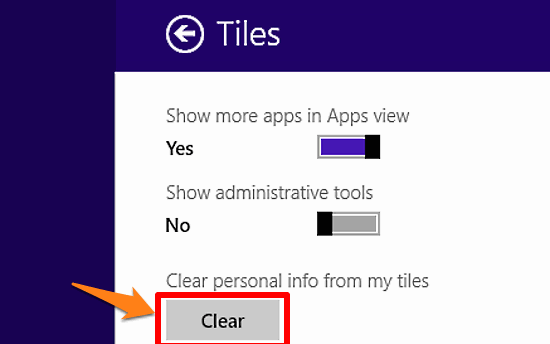 windows 10 clear personal info from live tiles