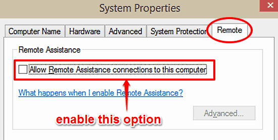 windows 10 enable remote assistance