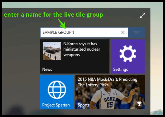 windows 10 name live tile group