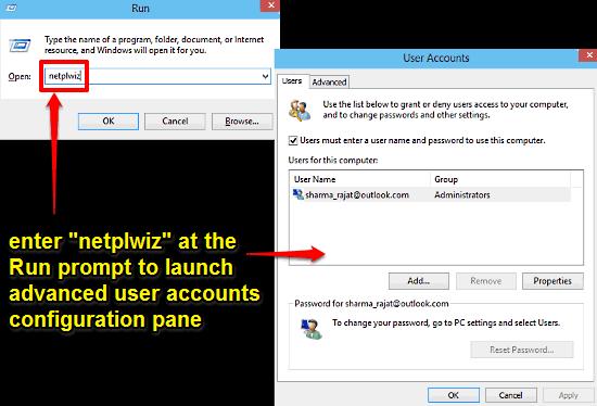windows 10 open advanced user accounts configuration