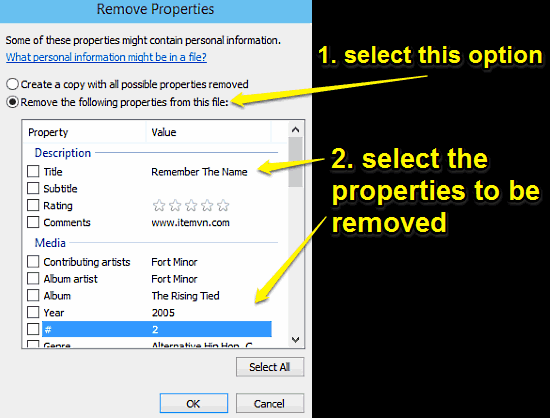 windows 10 remove properties dialog box