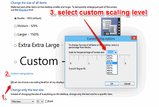 windows 10 scale all ui elements by a custom value