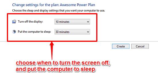 windows 10 select time to hibernate and turn off