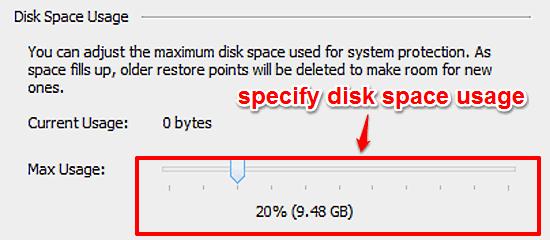 windows 10 set disk space access limit