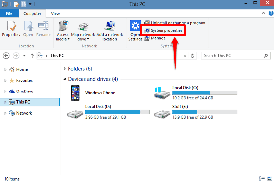 windows 10 system properties access