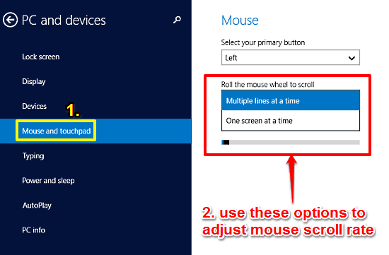windows 10 tweak mouse scroll rate