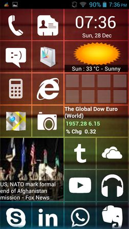 windows 8 launcher apps Android 2