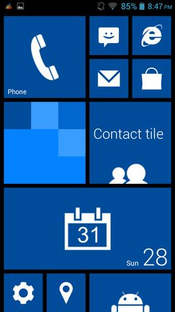 windows 8 launcher apps Android 3