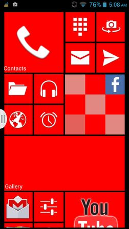 windows 8 launcher apps Android 4