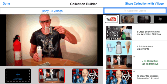 Add Videos to Collections