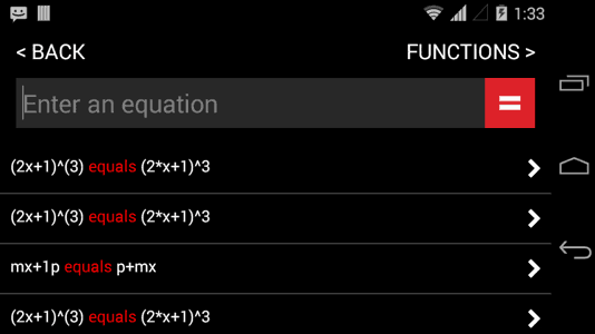 Automath for Android - Manually Enter Question