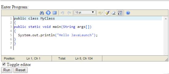 Java Launch