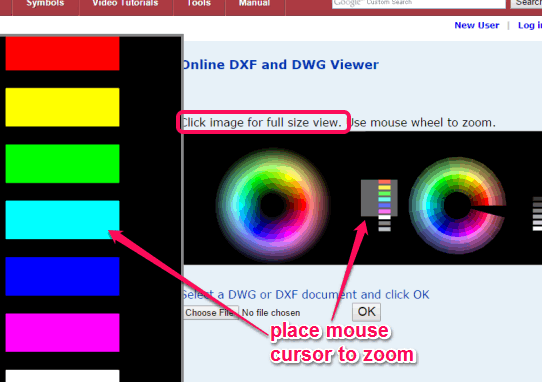 Online DXF and DWG Viewer