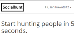 Social Hunt- track people on Twitter and get notifications