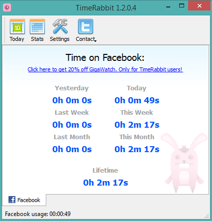 TimeRabbit- interface