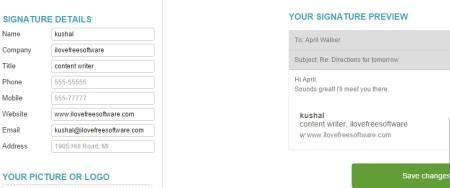 Create email signatures