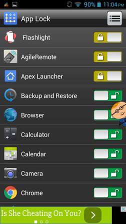 app locker apps Android 4