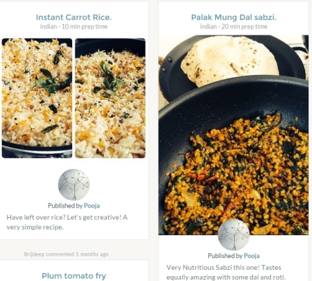 store recipes online