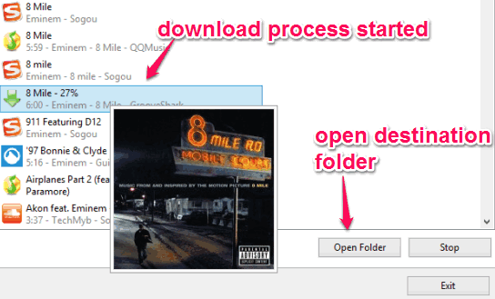 download process started
