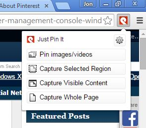 pinterest image pinning extensions chrome 3