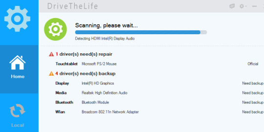 scanning process started