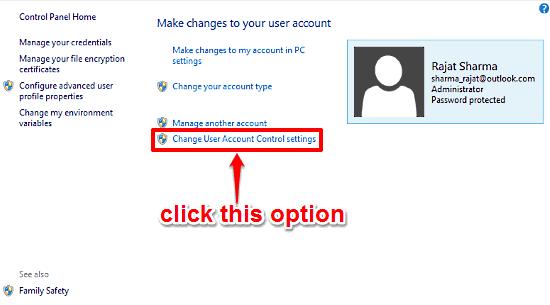 windows 10 access uac settings