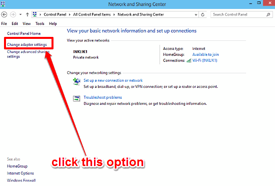 Disable Internet Connection Sharing In Windows 10