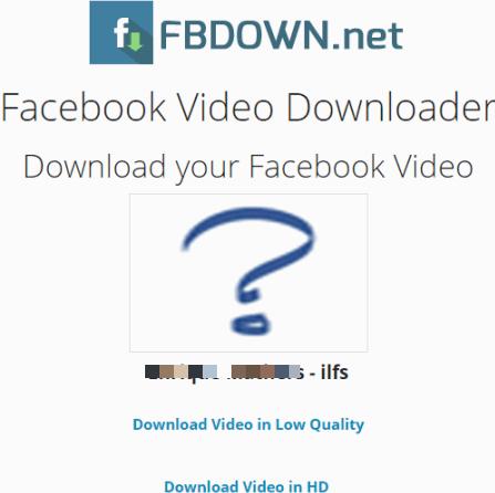 FBDOWN.net website