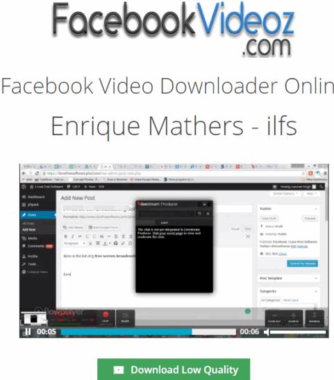 FacebookVideoz.com interface