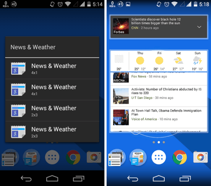 Google News n Weather