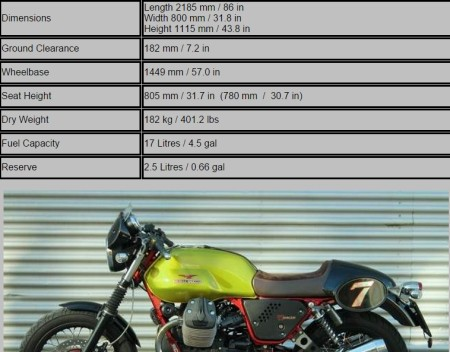 see motorcycle specifications