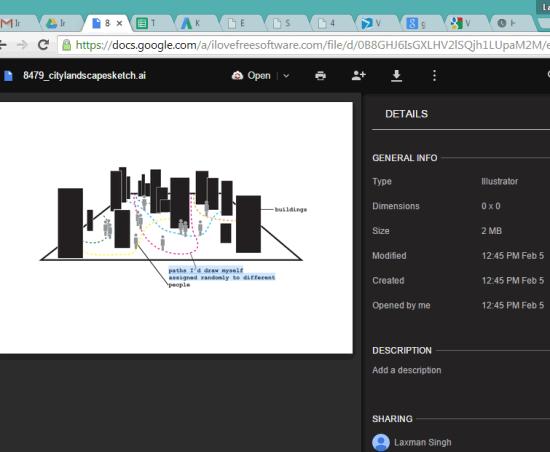 Open AI file using Google Drive