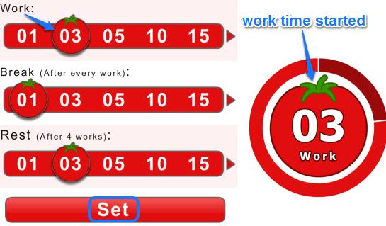 Pomodoro Timer by Online Stopwatch