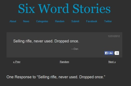 read and share six word stories