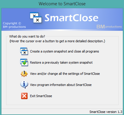 SmartClose- interface