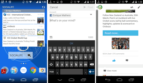 3 Best Facebook Widgets For Android