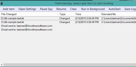 TheFolderSpy- interface