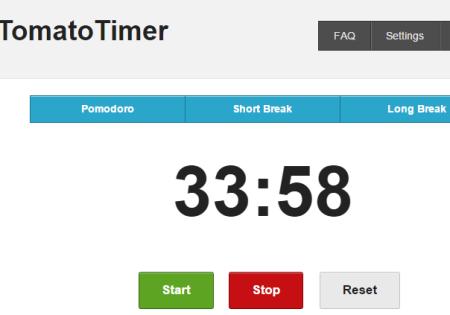 Tomato Timer- interface