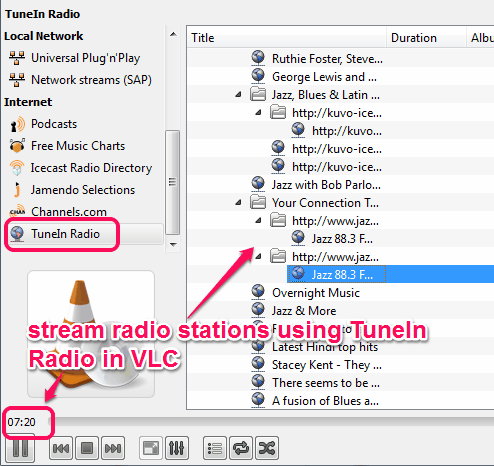 TuneIn Radio plugin