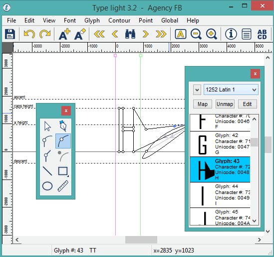 Type light- interface